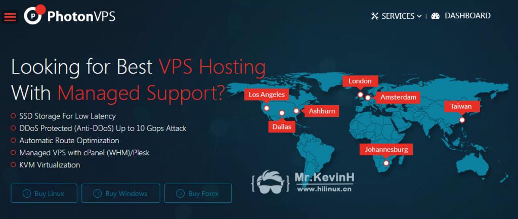 PhotonVPS 台湾/低延迟/1核/512MB内存/50G流量/中华电信/饭桶VPS-Mr.KevinH