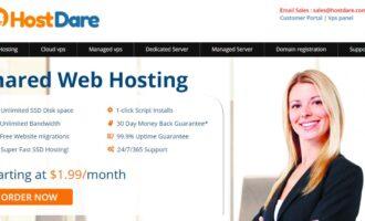 『促销』HostDare – 1核/756M内存/35G硬盘/600G流量/80M带宽/KVM/洛杉矶GIA CN2/终身75折优惠/最低年付34美元