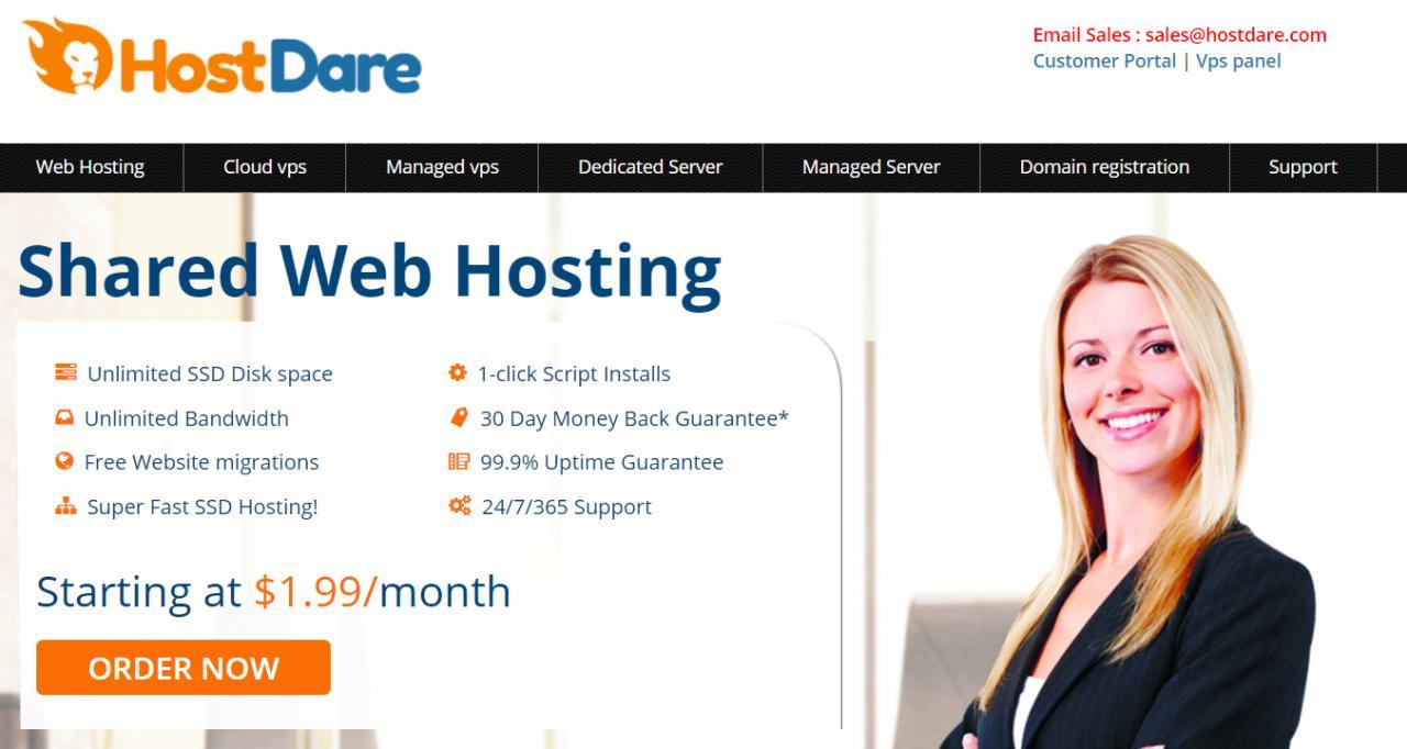 『优惠』HostDare - 256M内存/7G SSD/300GB流量/50Mbps/洛杉矶Cera机房/年付16美元 干货分享 第1张