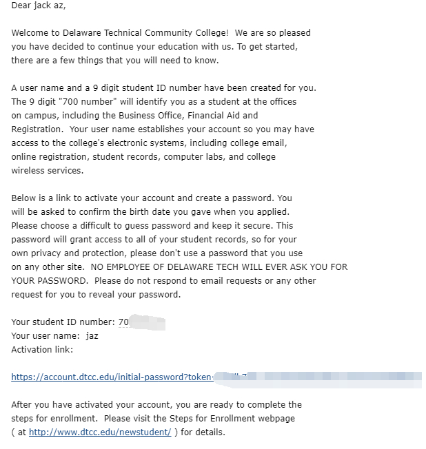 『转载』美国特拉华技术社区学院 - Delaware Technical Community College 申请教程 / 含桌面版Office和Gsuite 干货分享 第7张
