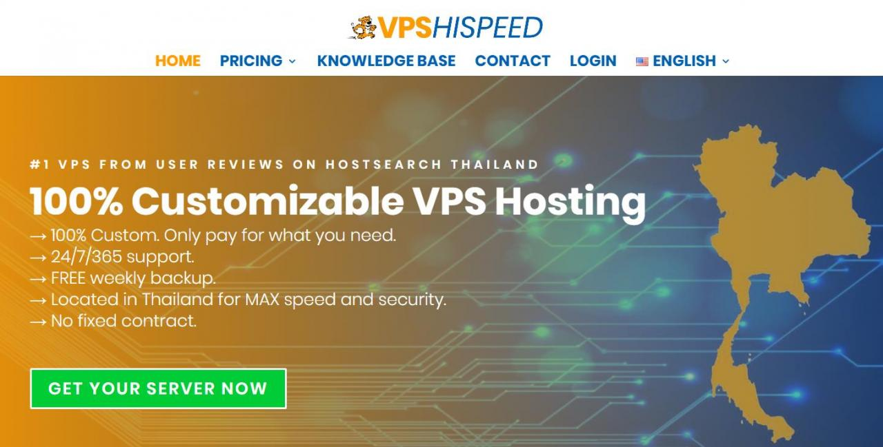 『VPS』VPSHISPEED - 2核/1G内存/15G SSD/不限流量/泰国曼谷/KVM/支持支付宝/月付91元 干货分享 第1张