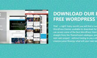 『主题』Themeforest – 1月限免WordPress主题下载/总价值79美元
