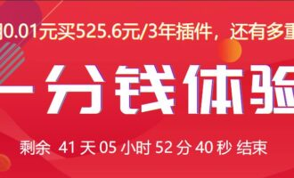 『活动』宝塔 – 一分钱体验付费插件/组队用0.01元买525.6元/3年插件 还有多重豪礼