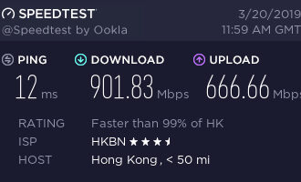 『测评』Natcloud – 香港HKBN 1G家宽 Nat VPS 测评报告