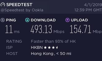 『测评』PQS – 香港HKBN 1G家宽 Nat VPS 测评报告