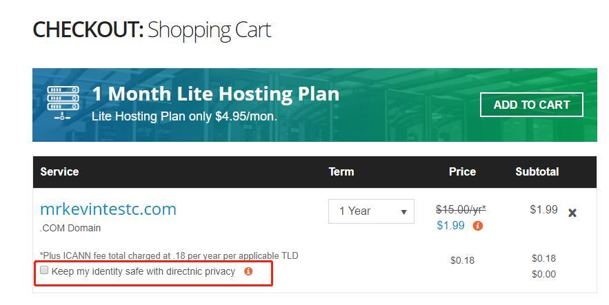 「优惠」Directnic - 注册 COM 域名仅需1.99美元 干货分享 第2张