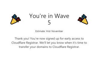 『域名』Cloudflare: 域名注册服务 / 成本价注册 / 预约中 / 捐款1美元可提前