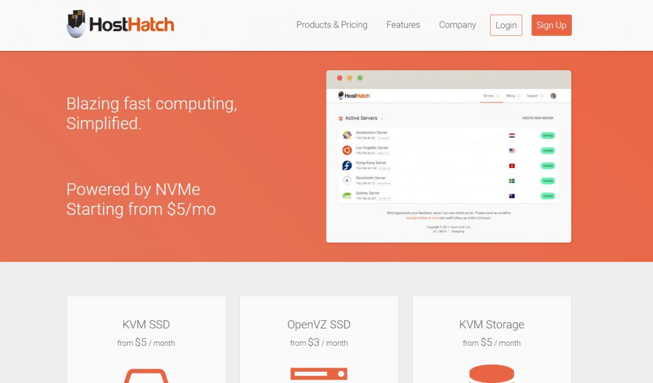 『评测』HostHatch - 1G内存 / 1T存储 / 2T流量 / 洛杉矶 / 斯德哥尔摩 / 月付$5 主机测评 第1张