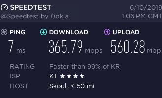 「测评」PQS – 1核 256M内存 4G SSD 512G流量 1G带宽 韩国KT家宽 测评报告