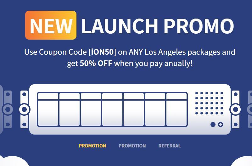 「新上架」iON Cloud -  1核 1G内存 25G SSD 1TB流量 1G带宽 KVM 洛杉矶CN2线路 月付2.5美元 资讯 第1张