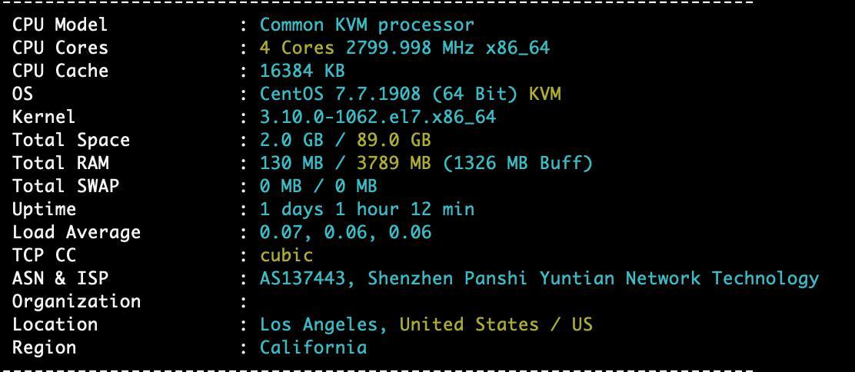#上新#XXMHOST - 美国洛杉矶安畅CN2 1核 1G内存 15G SSD 100M带宽 1.5T流量 月付57元起 附测试数据 CN2 VPS 第2张